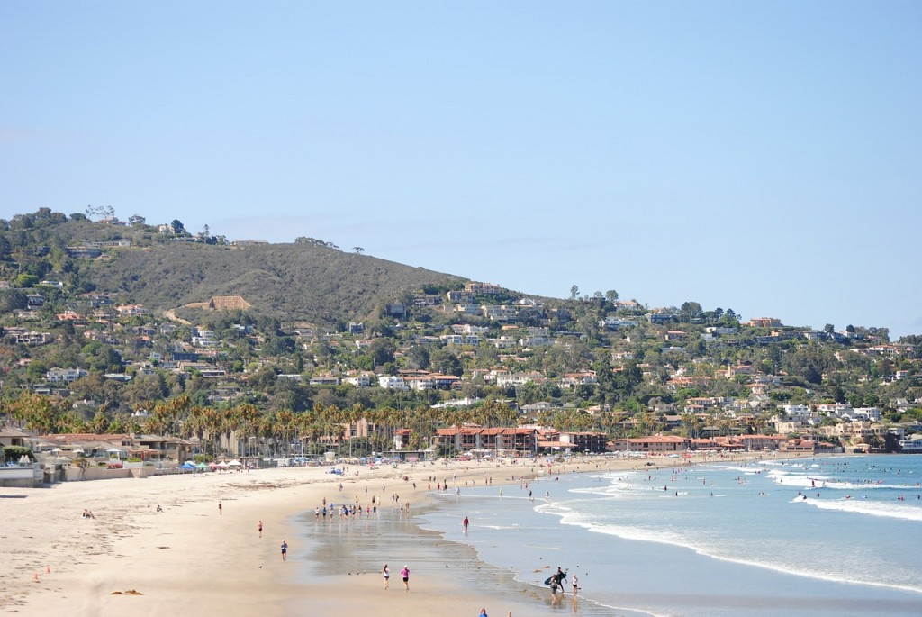 La Jolla Shores strand i San Diego