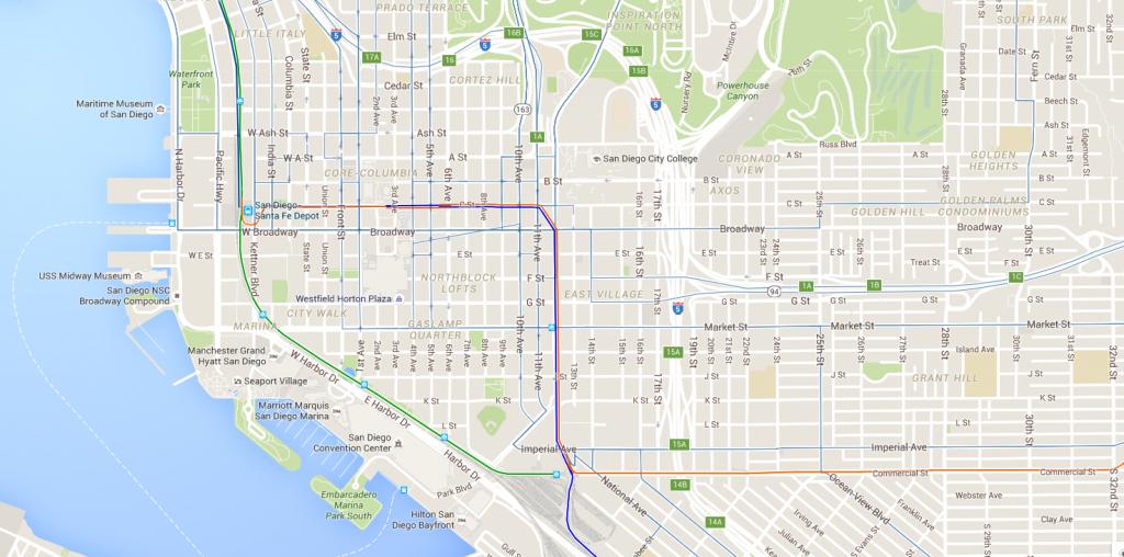 San Diego Trolley offentlig transport system