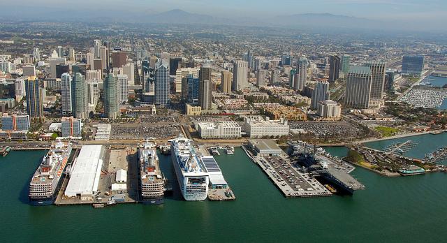 San diego havn fra luften