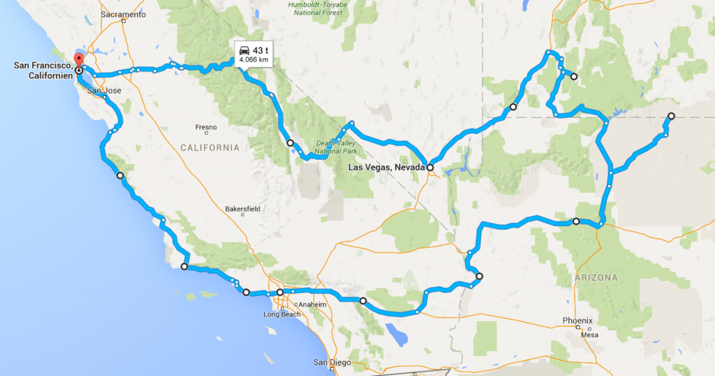Roadtrip ruter i Californien
