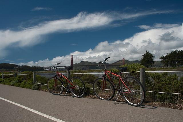 Cykel over Golden Gate Bridge