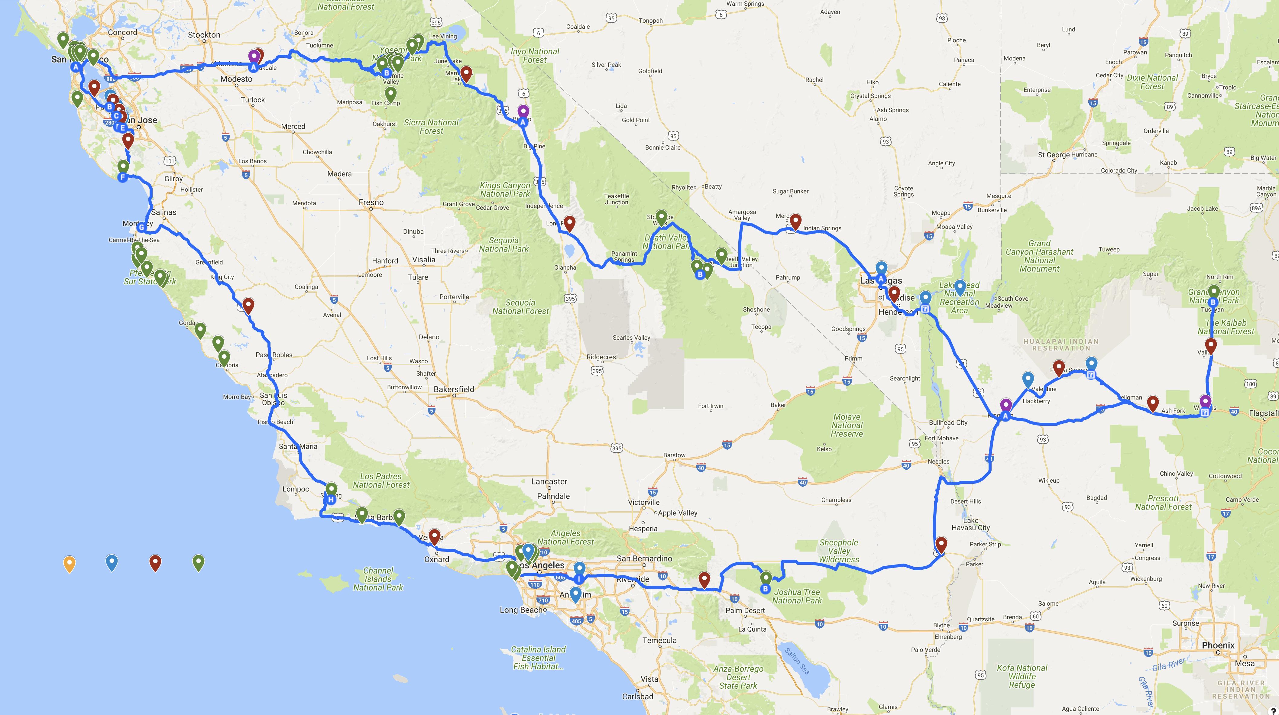 rejse californien suv