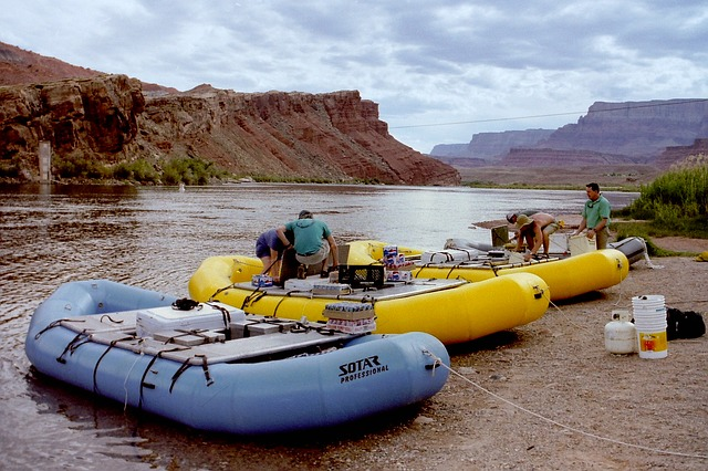 River rafting colorado river